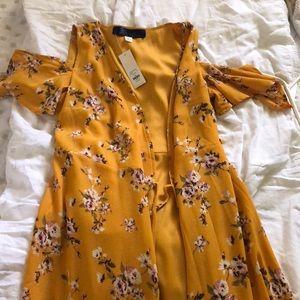 Yellow floral Francesca's dress